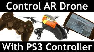 Control <b>AR Drone</b> with <b>PS3</b> Controller - YouTube
