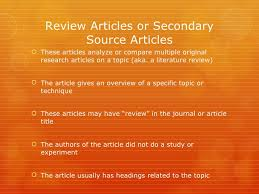How to write a good literature review article