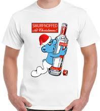 Smurfnoffed на Рождество мужские забавные футболка с водкой ...