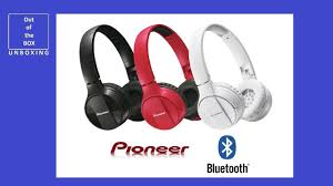 <b>PIONEER SE</b>-<b>MJ553BT</b> Bluetooth On-ear headphones UNBOXING ...
