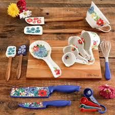 Pioneer Woman Dazzling <b>Dahlias 20 Pc</b>. Kitchen Tool Set   Cooking ...