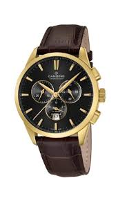 Candino <b>Men's Quartz Watch</b> with Black Dial Chronograph Display ...