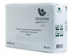 <b>Пеленка</b> одноразовая <b>Пелигрин Super</b>, 60 х 90 см, 30 шт ...