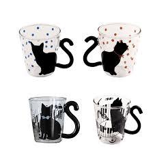 Promotions <b>Cute Creative Cat Kitty</b> Glass Mug Cup Tea Cup Milk ...