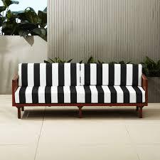 tropez black and white stripe sofa black outdoor furniture