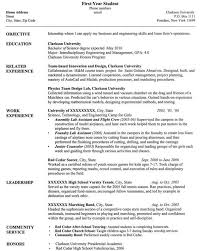 first resume examples  first job resume examples  sample first job    university student resume sample
