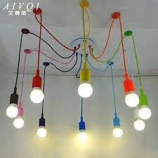 silicone colorful pendant lights diy multi color e cable pendant lighting