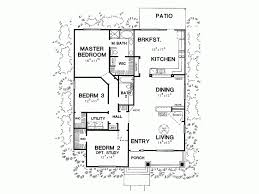 Eplans Bungalow House Plan   Three Bedroom Bungalow   Square    Level