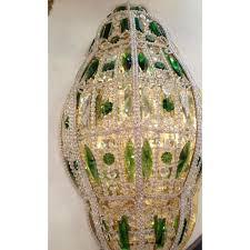 Lanterna Da Parete : Applique da parete mezza lanterna con cristalli di boemia e