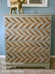 pewter herringbone dresser tutorial wwwpneumaticaddictcom chevron painted furniture
