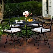 most seen images in the classic look of wrought iron patio dining set gallery black wrought iron patio