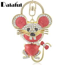 2019 <b>New</b> Fashion Red Heart Mouse <b>Bowknot</b> Tail <b>Crystal</b> Bag ...
