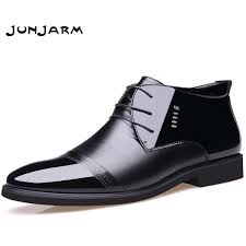 <b>Junjarm</b> 2017 <b>New Designer Men</b> Boots Microfiber <b>Men</b> Winter ...