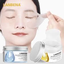 <b>50Pcs</b>/<b>lot</b> LANBENA <b>Retinol</b> &Hyaluronic Acid <b>Eye Mask</b> Reduce ...