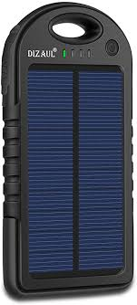 Dizaul Solar Charger, 5000mAh Portable Solar ... - Amazon.com