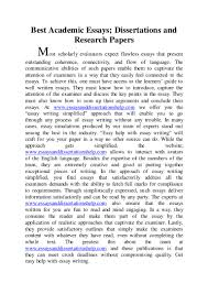 best academic essays disserttaions and research papers