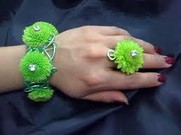 Floral Bracelet and Floral Ring