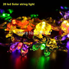 5set 20 led solar powered outdoor christmas decorations lights garden lights christmas flowers string lights garland amazing garden lighting flower