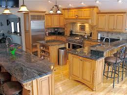 Kitchen Islands With Granite Countertops Oak Kitchen Island With Granite Top Best Kitchen Ideas 2017