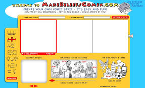 Make Belief uses a storyboarding form to make simple comics.