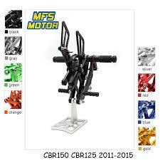 For Honda CBR 125/150 2011 2015 <b>CNC Adjustable</b> Rearset ...