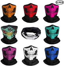 JAHEMU Skull Face Mask <b>Halloween</b> Motorcycle Bandana ...
