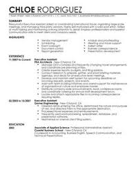 executive assistant resume example sample resume of executive assistant