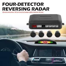 AL <b>Car Auto Parktronic LED</b> Parking Sensor with 4 Sensors Reverse ...