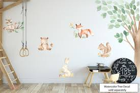 <b>Watercolor</b> Woodland Forest <b>Animals Wall</b> Decals