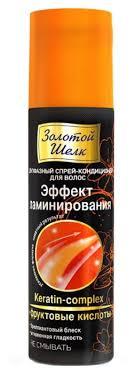 Золотой шелк Витамины для <b>волос Двухфазный спрей</b> ...