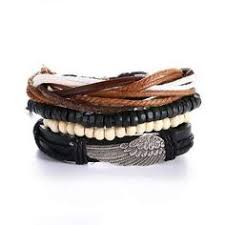 Men's Leather bracelet <b>4PCS</b>/<b>SET</b> in 2019 | Silk | Bracelets <b>for</b> men ...