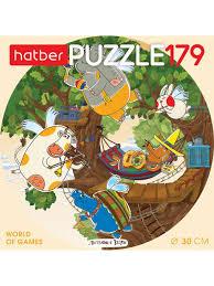 """<b>Пазлы</b> """"Летающие звери"""" 179 элементов круглые <b>Hatber</b> ..."""