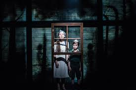 the boy in the striped pyjamas from page to stage marlowetheatre 34 eleanor thorn as gretel as jabez cheeseman as bruno