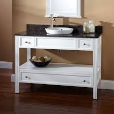 open bathroom vanity cabinet: quot milforde console vanity for semi recessed sink