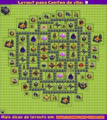 layouts para clash of clans cv atualiza ccedil atilde o deg morteiro layout clash of clans cv 9 farm