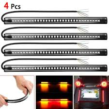 4pcs <b>Flexible 48 LED</b> SMD Strip Motorcycle Car Tail Turn Signal ...
