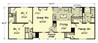 The Moore Ranch   NC Custom ModularsRanch Modular home floor plan   integrated front porch