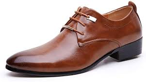 Gaorui <b>Men Pointed</b> Toe <b>Business</b> Dress Formal Leather Shoes Flat ...