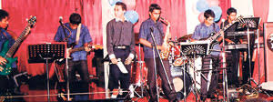 ... Shyami Fonseka, Rukshan Perera and Sri Kantha Dassanayake (Super Golden Chimes) will be featured at this rare show. - The-band-at-a-performance