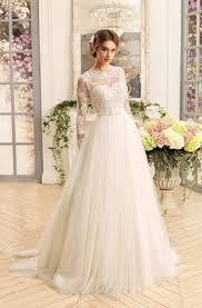 Ball Gown Floor-Length Jewel Long-Sleeve Corset-Back <b>Satin</b> ...