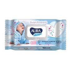 Влажные салфетки детские Aura Ultra <b>Comfort</b> 120 штук в упаковке
