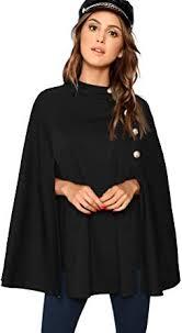 MAKEMECHIC Women's Double Button Cloak Sleeve ... - Amazon.com