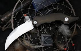 <b>Складной нож CKF Krokar</b> Ti knife, сталь M390, рукоять Titanium ...