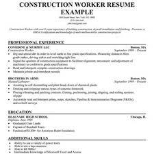 residential construction worker resume resume examples construction worker resume writing resume sample home design resume cv cover leter