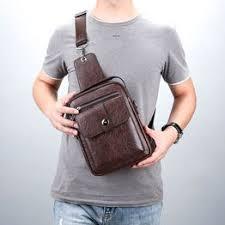 Genuine new men's bag shoulder bag handbag messenger ... - Vova