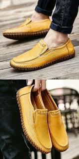 Amazon Handmade <b>Summer Men's Leather</b> Shoes Casual Slip On ...