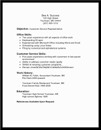 Customer Service Objective  resume template at home customer