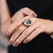 Купить <b>Кольцо</b> «Orion» Синий ручной работы в бутиках <b>UNOde50</b>