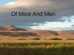 of mice and men page  of mice and men title page