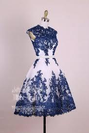 <b>Dark</b> blue <b>lace applique short</b> prom dress, <b>dark</b> blue homecoming ...
